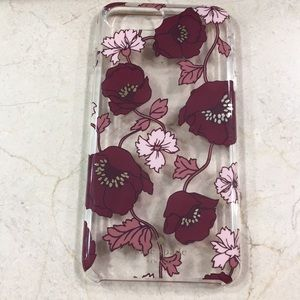 New kate spade iPhone plus case floral